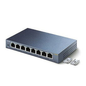 TPLINK 8ポート スイッチングハブ 金属筐体マグネット付 永久保証 TLSG508