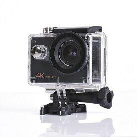SAC マイクロSD対応 防水ハウジングケース付きタッチパネル液晶4Kアクションカメラ AC900B ブラック