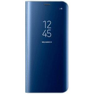 サムスン 「サムスン純正」 Galaxy S8+用 ClearViewカバー ブルー EF−ZG955CLEGJP
