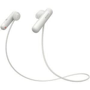 ソニー ブルートゥースイヤホン インナーイヤー型 WI−SP500 WQ ホワイト [防滴 /Bluetooth]