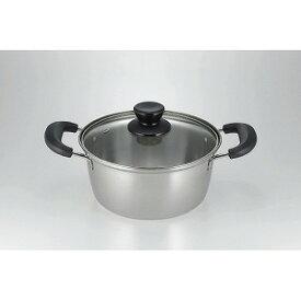 カクセー エスクラス ステンレス製両手鍋 [18cm /IH対応] SCL−03