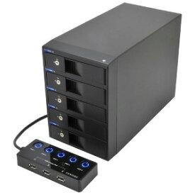センチュリー USB3.0対応 SATA3.5HDDケース 裸族のカプセルホテル5Bay CRCH535U3ISC