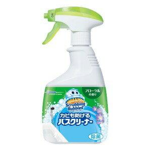 ジョンソン ScrubbingBubbles(スクラビングバブル) カビも防げるバスクリーナー フローラルの香り 本体 (400ml) 〔お風呂用洗剤〕