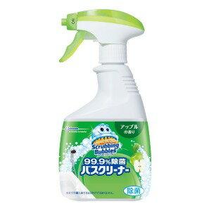 ジョンソン ScrubbingBubbles(スクラビングバブル)  99.9%除菌バスクリーナー アップルの香り 本体 (400ml) 〔お風呂用洗剤〕