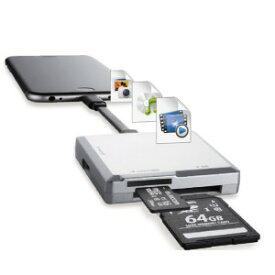 ロジテック Lightningメモリリーダ/SD+microSD対応/Type−C変換アダプタ付属 LMR−MB15SV