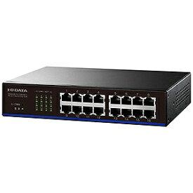 I・O・DATA スイッチングハブ EEE省電力機能搭載 ETX−ESH16NCシリーズ ETX−ESH16NCK ブラック