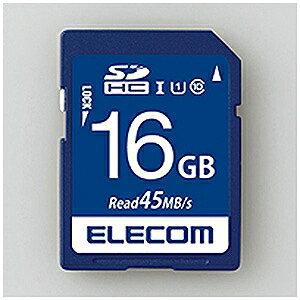 エレコム 16GB・UHS−I U1 45MB データ復旧サービス付 SDHCカード MF−FS016GU11R