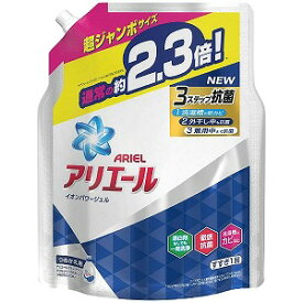 P&G ARIEL(アリエール)イオンパワージェル サイエンスプラス つめかえ用 超ジャンボサイズ (1620g) 〔衣類用洗剤〕