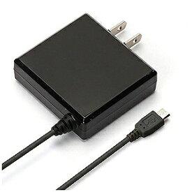 PGA タブレット/スマートフォン対応[micro USB] AC充電器 2A (2m・ブラック) PG−MAC20A01BK