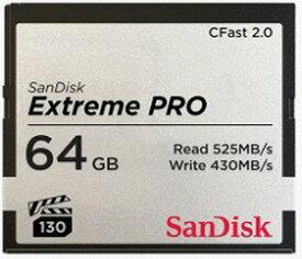 サンディスク 64GB CFast2.0 カード SanDisk Extreme PRO SDCFSP−064G−J46D