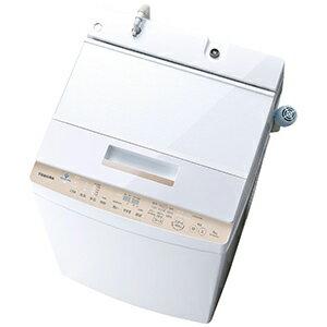 東芝 全自動洗濯機 (洗濯8.0kg) AW−BK8D7−W グランホワイト(標準設置無料)