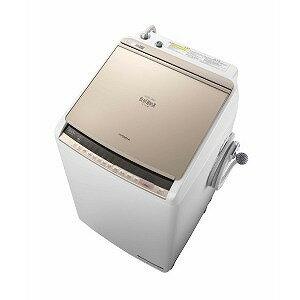 日立 タテ型洗濯乾燥機 (洗濯8.0kg/乾燥4.5kg)「ビートウォッシュ」 BW−DV80C シャンパン(標準設置無料)
