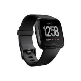 Fitbit フィットビット スマートウォッチ Versa FB505GMBK−CJK ブラック/ブラックアルミニウム L/Sサイズ