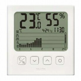 タニタ グラフ付きデジタル温湿度計 TT580WH
