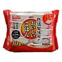 アイリスオーヤマ 低温製法米のおいしいごはん 国産米100% 180g×10パック コクサンマイ180グラムX10