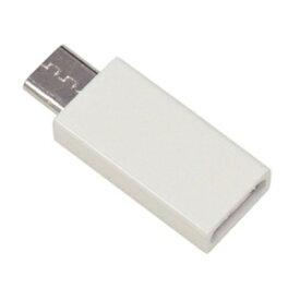 ラスタバナナ タブレット/スマートフォン対応[micro USB オス→メス USB−C] 変換アダプタ 充電・転送 RBHE281 ホワイト