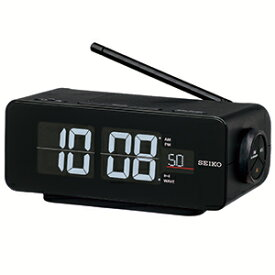 セイコー 電波交流式目覚まし時計 「C3FLIP」 DL213K 黒