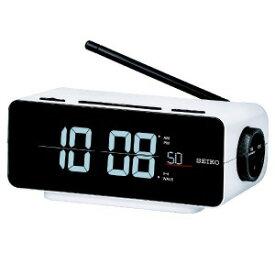 セイコー 電波交流式目覚まし時計 「C3FLIP」 DL213K 白