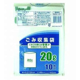日本技研工業 NZV−21容量表記半透明ごみ収集袋20L10P NZV21ゴミフクロ(10