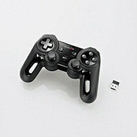 エレコム 無線ゲームパット 13ボタン Xinput 振動 連射 高耐久 JCU4113SBK