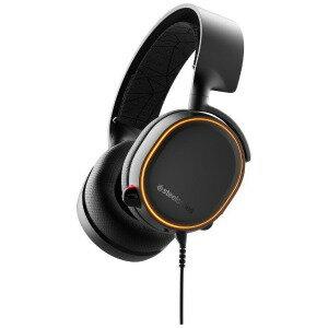 STEELSERIES 有線ゲーミングヘッドセットArctis 5 Black 2019Edition 61504 Black [φ3.5mmミニプラグ+USB]