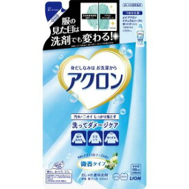 ライオン アクロン ナチュラルソープの香り つめかえ用(400ml)[衣類洗剤] アクロンナチュラルソープカエ(400