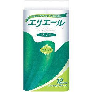 大王製紙 エリエールトイレットティシュー12R(ダブル) エリエルトイレットW12マキ(12R