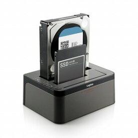 ロジテック ハードディスクスタンド 2.5/3.5インチ 2BAY[USB3.0/SATA・Mac/Win] LGB−2BDPU3ES ブラック