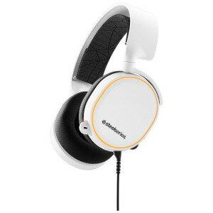 STEELSERIES 有線ゲーミングヘッドセットArctis 5 White 2019Edition 61507 White [φ3.5mmミニプラグ+USB](送料無料)
