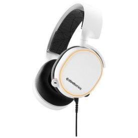 STEELSERIES 有線ゲーミングヘッドセットArctis 5 White 2019Edition 61507 White [φ3.5mmミニプラグ+USB]
