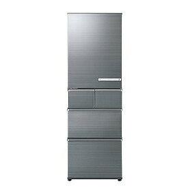AQUA 5ドア冷蔵庫(415L・左開き) AQR−SV42HL−S チタニウムシルバー (標準設置無料)