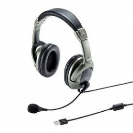 サンワサプライ USBヘッドセット MM−HSU10GM