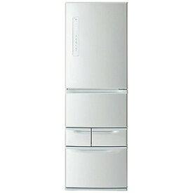 東芝 5ドア冷蔵庫(411L・右開き) GR−P41G−S シルバー (標準設置無料)