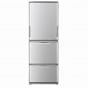 シャープ 3ドア冷蔵庫(350L・どっちもドア) ◎SJ−W351E−S シルバー系(標準設置無料)