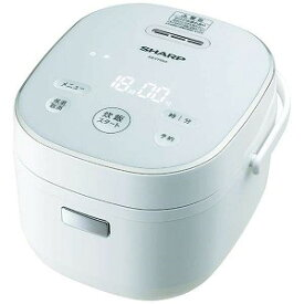 シャープ SHARP 炊飯器 [3合/マイコン] ホワイト系 KS−CF05A−W 炊飯器 ホワイト系