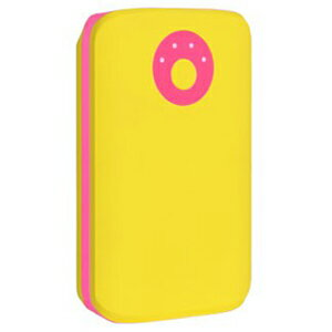 HAMEE POPn Charge モバイルバッテリー 7800mAh 276−8750−874929 イエロー×ピンク