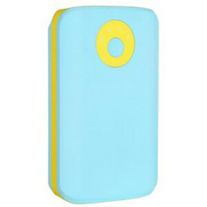 HAMEE POPn Charge モバイルバッテリー 7800mAh 276−8750−874943 ライトブルー×イエロー