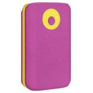 HAMEE POPn Charge モバイルバッテリー 7800mAh 276−8750−874950 パープル×イエロー