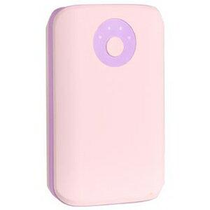 HAMEE POPn Charge モバイルバッテリー 7800mAh 276−8750−874967 ベビーピンク×ライトパープル