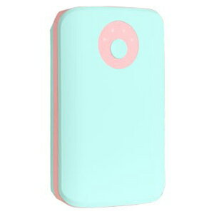 HAMEE POPn Charge モバイルバッテリー 7800mAh 276−8750−874974 ペールミント×ライトピンク