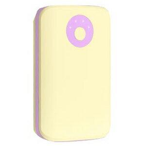 HAMEE POPn Charge モバイルバッテリー 7800mAh 276−8750−874981 クリームイエロー×ライトパープル