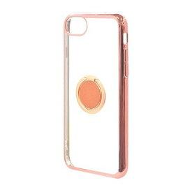 ラスタバナナ iPhone8/7/6s共用 トライタンリングメタルフレームケース 4677IP747TR ローズゴールド×ピンクゴールド