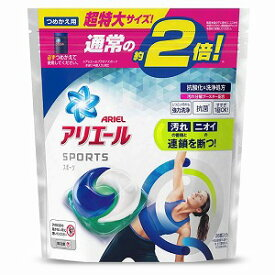 P&G ARIEL(アリエール)ジェルボール3Dプラチナスポーツ 替超特大サイズ〔衣類用洗剤〕