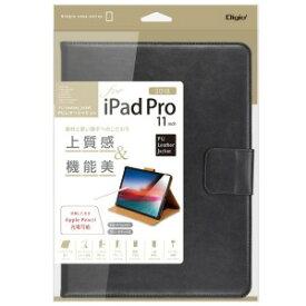ナカバヤシ iPadPro11inch(2018)用PUレザージャケット ブラック TBCIPP1808BK(ブラ