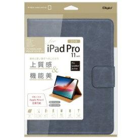 ナカバヤシ iPadPro11inch(2018)用PUレザージャケット ネイビー TBCIPP1808NB(ネイヒ