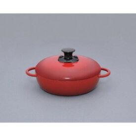 アイリスオーヤマ 無加水鍋 GMKS−24S レッド