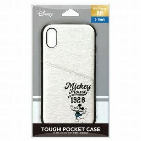 PGA iPhone XR用 タフポケットケース PG−DCS694MKY ミッキーマウス/グレー