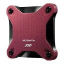 I・O・DATA 外付けSSD レッド [ポータブル型 /480GB] SSPH−UT480R
