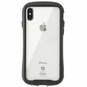 HAMEE [iPhone XS/X専用]iFace Reflection強化ガラスクリアケース 41−907153 ブラック