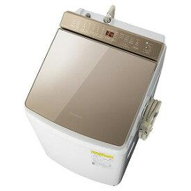 パナソニック 縦型洗濯乾燥機 [洗濯9.0kg/乾燥4.5kg/ヒーター乾燥(水冷・除湿タイプ)/液体洗剤・柔軟剤自動投入] NA−FW90K7−T ブラウン(標準設置無料)